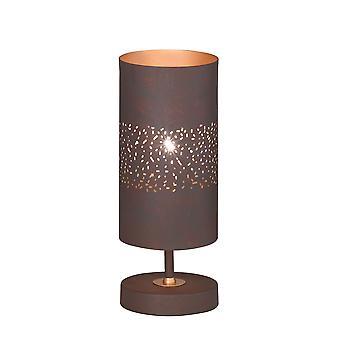 Wofi Table Lamp Ancona 1 Light Antique Brown