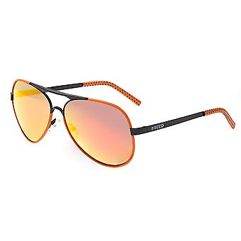 Breed Genesis Polarized Sunglasses - Black/Red-Yellow