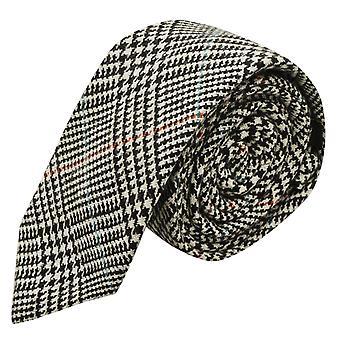 Black & biały krawat Tweed wyboru Dogtooth