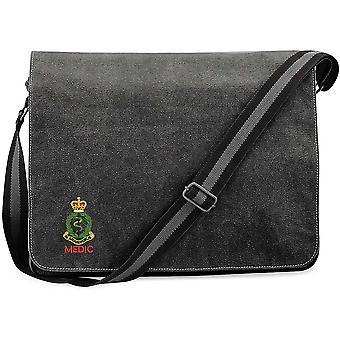 Royal Army Medical Corps Medic - Licensed British Army Embroidered Vintage Canvas Despatch Messenger Bag