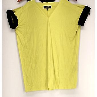 Nene Top Elastic Crossback Tunic Green / Black Womens 464-167