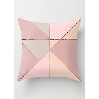 Geometrische Print Square Kissenbezug rosa