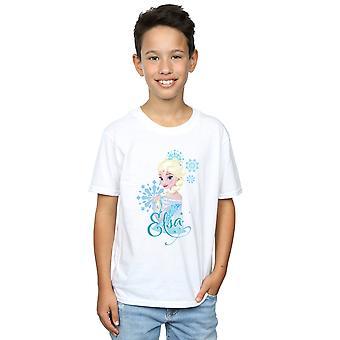 Disney Boys Frozen Elsa Snowflakes T-Shirt