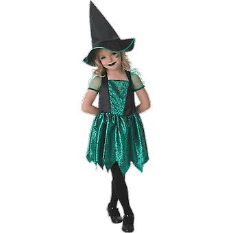 Girls Green Spider Witch Books & Film Halloween Fancy Dress Costume
