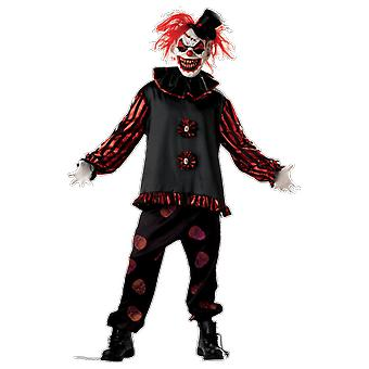 Herren Beängstigend Killer Clown Halloween Fancy Kleid Kostüm