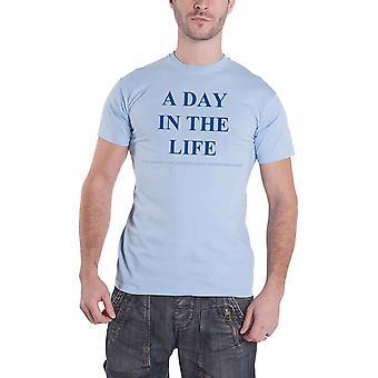 חולצת הביטלס T יום בחיים סמל הבית האדם פלפל הרשמי גברים אור כחול