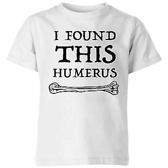 I Found this Humurus Kids' T-Shirt - White