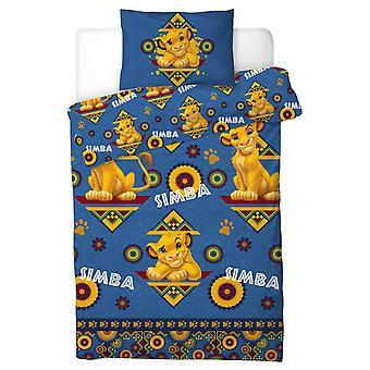 O edredom do rei Leão Simba ajustou a cama 135x200 + 50x75cm