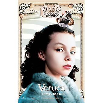Charlie And The Chocolate Factory (Veruca Mini) (2005) Original Mini Cinema Poster