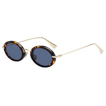 Dior Hypnotic 2 2IK/A9 Havana-Gold/Blue Sunglasses