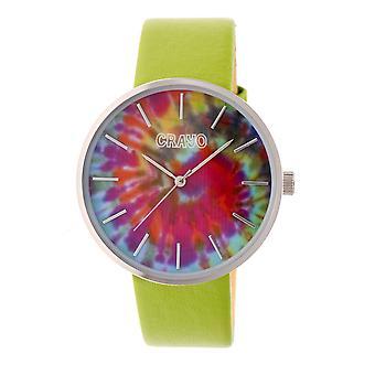 Crayo Swirl Unisex horloge-zilver/groen