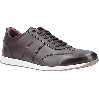 Base Londra Mens Sonic Lavato Pizzo Up Trainer Brown