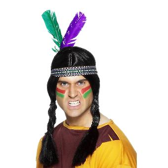 Indian Headress Accessory Native American Fancy Dress Costume Headpiece
