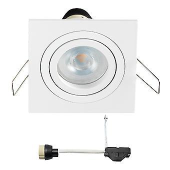 Coblux LED Encastré Spotlight (fr) Blanc Carré (En anglais) Blanc chaud 5 Watts dimmable ( Inclinaison