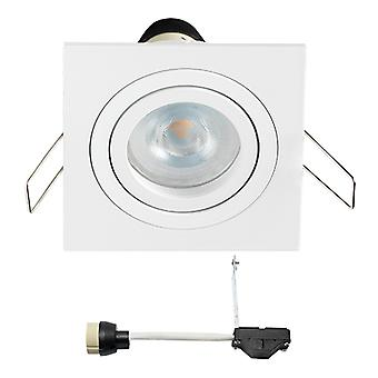 Coblux LED Einbaustrahler | Weiß | Quadratisch | Warmweiß | 5 Watt | dimmbar | Kippen