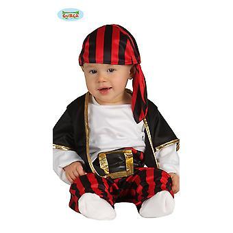 Traje do bebê do traje do pirata