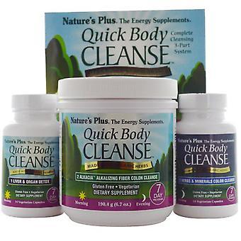 Quick Body Cleanse, 7 dagen programma, 3 deelprogramma ()-natuur ' s plus