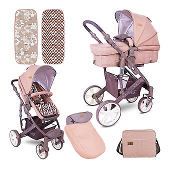 Lorelli combination stroller Verso 2 in 1 adjustable sliding handle foot bag, bag