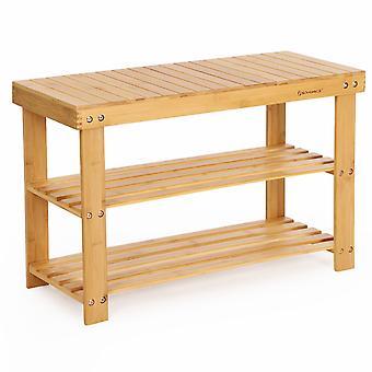 Bamboo Shoe rack/panca-70 cm