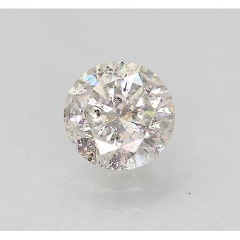 Certified 0.57 Carat F SI2 Round Brilliant Enhanced Natural Loose Diamond 5.33mm