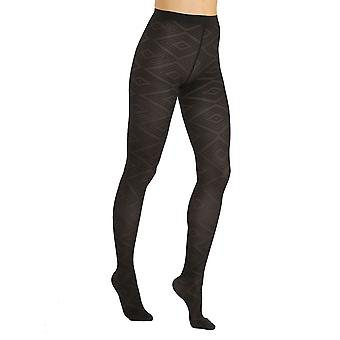 Solidea Babylon 70 mønstrede støtte tights [stil 40170] Nero (sort) XL