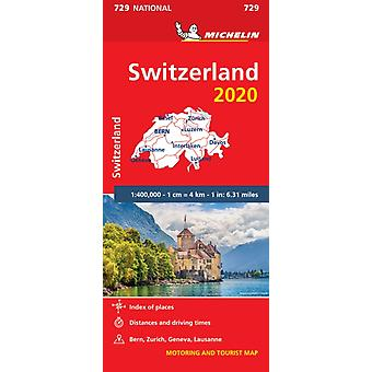 Switzerland 2020  Michelin National Map 729