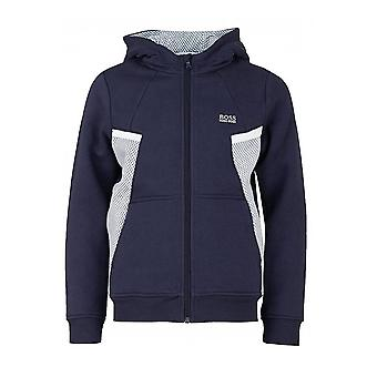 Hugo Boss Boys Hugo Boss Boy's Navy Blue Hooded Jacket
