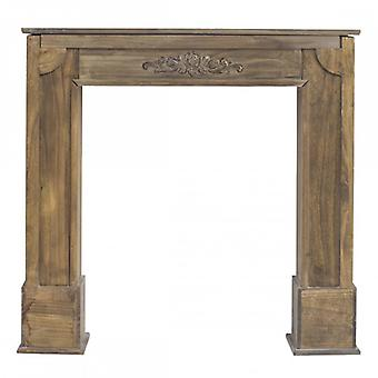Furniture Rebecca Decoration Fireplace Brown Shabby Brown 100x105x21
