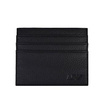 Armani Jeans Card Holder Leather Wallet Black