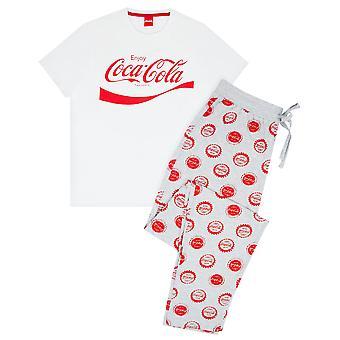 Coca-Cola Logo Men's Pyjama White Grey Lounge Set