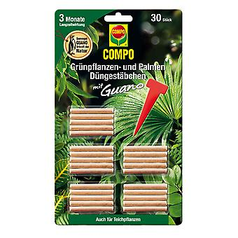 COMPO Green plant and palm fertilizer sticks with guano, 30 pieces