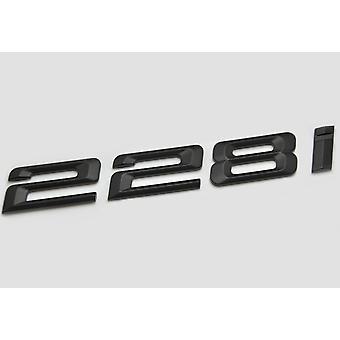 Matt Black BMW 228i Car Badge Emblem Model Numbers Letters For 2 Series F22 F45 F46