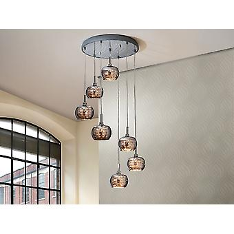 Schuller Ari - Lamp made of steel, bright finish. Shimmered glass shades with crystal beads stripes inside. - 193453