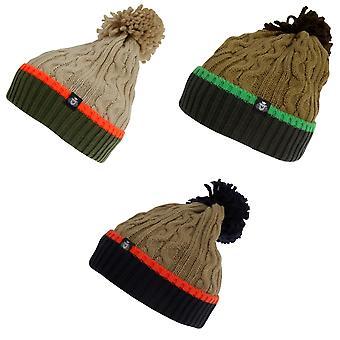 Skats Mens de malha chapéu do inverno Bobble