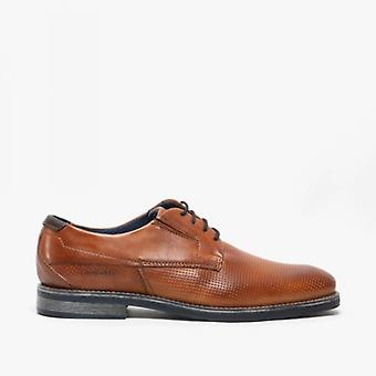 Bugatti 311-41704 Mens Leather Derby Shoes Tan