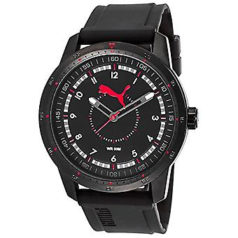 Cougar Time Quick Monday wrist watch, analog, plastic band, black/red