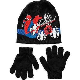 Pojkar Marvel Spiderman 2 Piece set mössa hatt & vinterhandskar