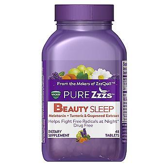 Vicks pure zzzs beauty sleep melatonin, tablets, 48 ea