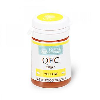 Squires Kitchen QFC Quality Food Colour Paste 20g - YELLOW