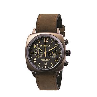Briston 15140.SPK.C.5.LVBR Clubmaster Classic Khaki Steel Wristwatch