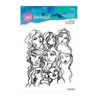 Jane Davenport Girl Group Clear Stamp