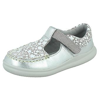 Girls Clarks Casual T-Bar Shoes Cloud Rosa
