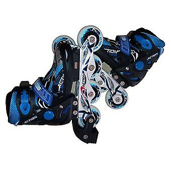 Inline Skates Atipick Speeding Children's Black Blue/28-31