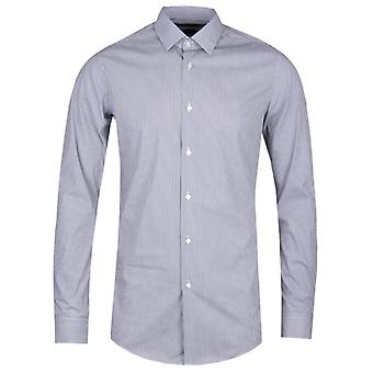 BOSS Herwing Striped Extra Slim Fit schwarz & weiße Stretch-Shirt