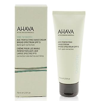 Ahava Time To Smooth Age Perfecting Hand Cream Broad Spectrum SPF15 75ml/2.5oz