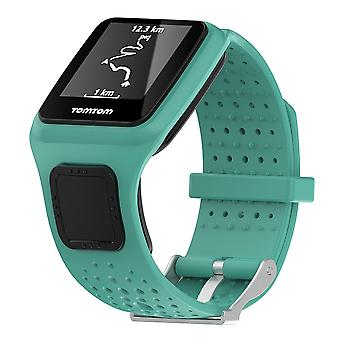 For TomTom Multi-Sport Replacement Wristband Bracelet Strap Band Metal Buckle[Teal]