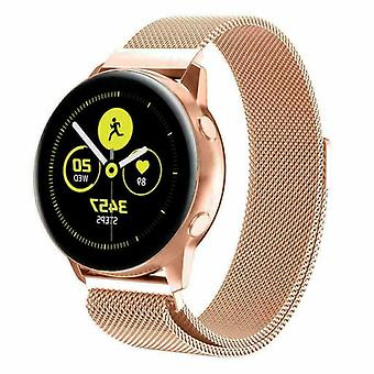 For Samsung Galaxy Watch Active 2 Strap Milanese Band Stainless Steel Magnetic[Rose Gold]
