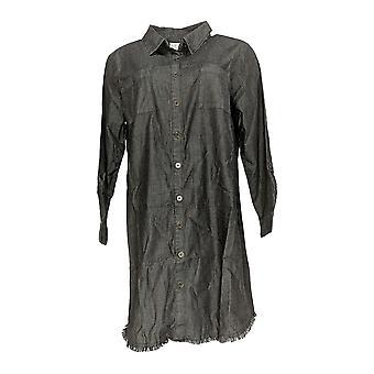 Joan Rivers Petite Robe 14 A-Line Style w/ Fringe Hemline Noir A310876