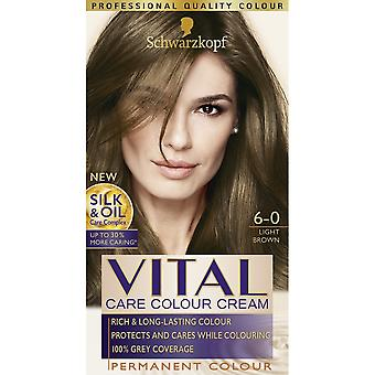 Schwarzkopf Vital Hair Colour - Light Brown 6-0 Schwarzkopf Vital Hair Colour - Light Brown 6-0