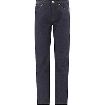 A.p.c. Codbsm09047iai Men's Blue Cotton Jeans